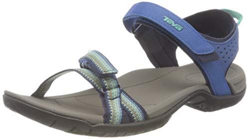 Teva Verra Sandal Womens, Zapatos para Senderismo Mujer, Blau, 37 EU