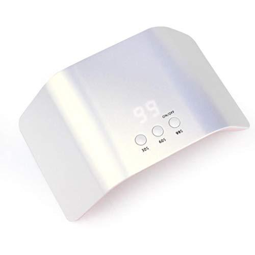 Lampara Secador de Uñas Lámpara LED UV Uñas Lámpara de curado de secado UV para uñas de 24W LED, con configuración de temporizador 30S / 60S / 99S y sensor automático LCD para uñas de uñas de gel Lamp