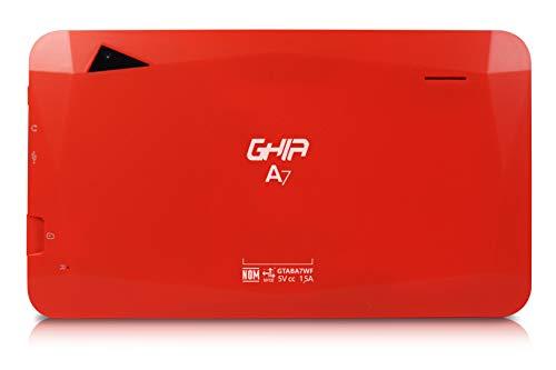 GHIA Tablet A7 GTABA7WFR - Pantalla de 7' - Quad Core - 1GB - 16GB - Cámara 0.3MP/2MP - 2000mAh - Android 8.1