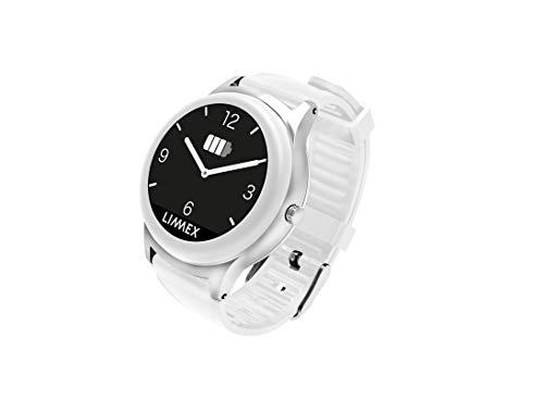 Limmex Notruf-Uhr - weiß mit GPS-Ortung + Alarmverfolgung - maximale Sicherheit für Zuhause und Unterwegs für ältere Menschen und Senioren | 7 Tage Akkulaufzeit | 1 Knopf 2 Funktionen: Uhrzeit/Alarm