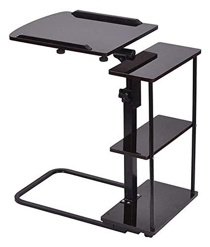 Mesa auxiliar con bandeja, mesa para cama o silla, escritorio para computadora portátil, escritorio de oficina en casa, mesa con ruedas, bandeja ajustable en altura, mesa lateral para computadora, sop