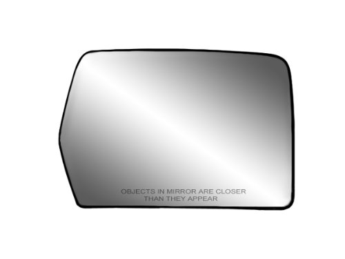 "Passenger Side Non-Heated Mirror Glass w/Backing Plate, Ford F150 (Does not fit STX Models), Mark LT, 6 13/16"" x 9 1/8"" x 10 1/2"" (w/o Blind Spot)"