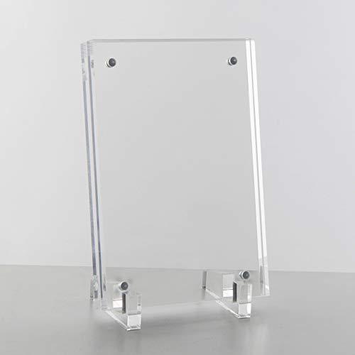 Magnet Bilderrahmen aus Acryl inkl. Füße– Aufstellbarer transparenter Plexiglas Fotorahmen – Praktischer Magnetverschluss – Schnelle und hochwertige Einfassung Ihrer Bilder – Portraits