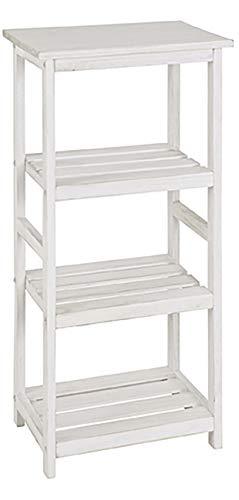 Haku Möbel Regal - Standregal - Massivholz in weiß gewischt Höhe 87 cm