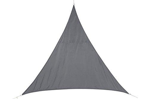 Toile solaire Voile d'ombrage triangulaire 2 x 2 x 2 m en tissu déperlant - Coloris GRIS