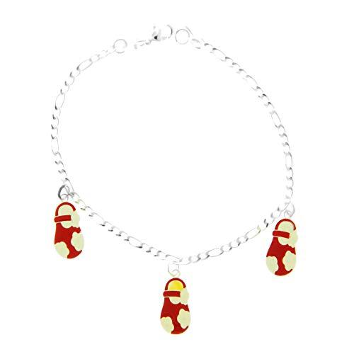 Córdoba Jewels | Pulsera en Plata de ley 925 con diseño Zapatitos Silver