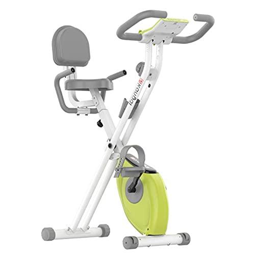 Bicicleta estática Plegable Bicicleta estática Fitness compacta con 8 Niveles de Resistencia sillín Ajustable en Altura y Pantalla LCD, Entrenamiento Fitness en casa