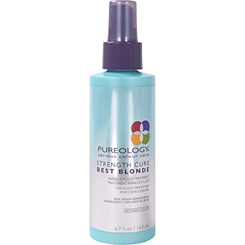 Pureology Strength Cure Best Blonde Miracle Filler Hair Treatment | Restores Hair Cuticle | For Color Treated Hair | Vegan | 4.9 oz.