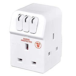 Ideal for indoor power applications 13 amp rated Surge-protected adaptor
