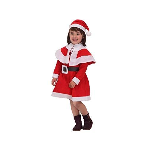 Atosa-69208 Atosa-69208-Déguisement Maman Noel Fille Garçon Taille 7-9 ans Rouge/Noël Couleur (69208)