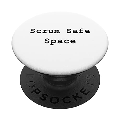 Scrum Safe Space Agile Project Management Funny PM Coach PopSockets PopGrip Intercambiable