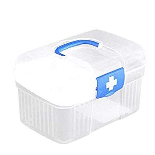 WYYAF Hausapotheke Box, Erste-Hilfe-Kit Kompakten Kunststoff Dauerhaft Wasserabweisendes Arbeitsplatz Nach Hause Fahrten Mit Dem Auto