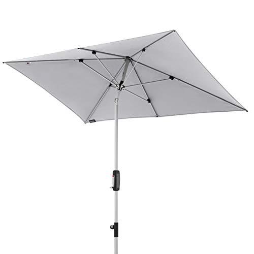 Knirps Sonnenschirm Automatic - Rechteckiger Kurbelschirm - Modernes Design - Starker UV-Schutz - 230x150 cm - Dunkelgrau