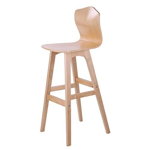 Barhocker Hausbar Massivholz Stuhl Kreative Hochlehner Hocker speisende Stuhl Hochstuhl Rezeption Stuhl (Color : B, Size : High)