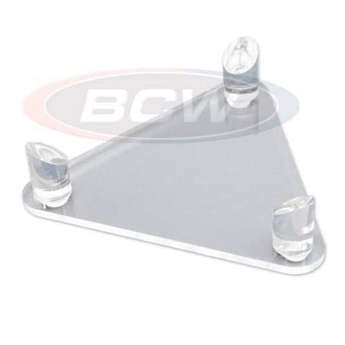 BCW Deluxe Acrylic Ball Stand - Holds Footballs, Basketballs, Volleyballs or Soccer Balls - Display Stand or Holder
