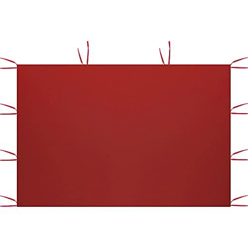 Paneles laterales para tienda de campaña, 3 x 2 m, carpa impermeable plegable, antilluvia, resistente a los rayos UV, para fiestas, camping, playa (sólo incluye un lado) (rojo, sin ventanas)
