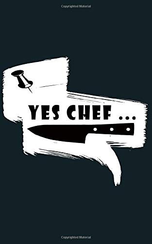 YES CHEF cooking knife : gift for chefs Notebook / Journal Gift,100...