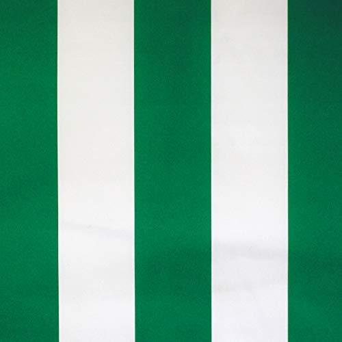 NOVELY® Sunrise Oxford 420D Markisenstoff   extrem reißfestes und dichtes Gewebe   UV-beständig (4-5 von 8)   Polyester Stoff Outdoor Meterware Strandkorb Zeltstoff wasserdicht W-17 Weiß-Grün