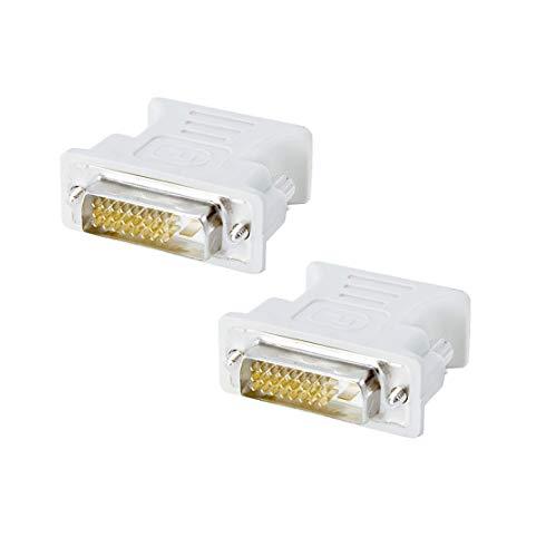 conecto CC20103 Analoger Monitor Adapter DVI-D-Stecker VGA-Kupplung 24+1-polig männlich/15-polig weiblich (2er Pack)
