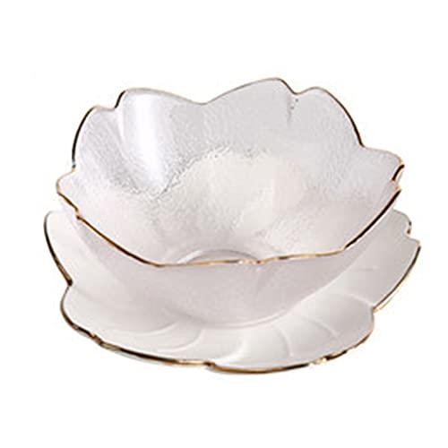 Cuencos para el hogar, plato de cerámica de cerezo creativo, platos laterales plato decorativo White