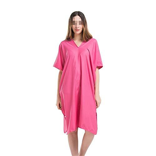 TEET Handtuch Poncho Frauen mit doppeltem Verwendungszweck mit Kapuze Schal Strandtuch saugfähig und schnell trocknend Strand Schwimmen Tauchen Bademantel Surf Poncho Handtuch (Color : Red)