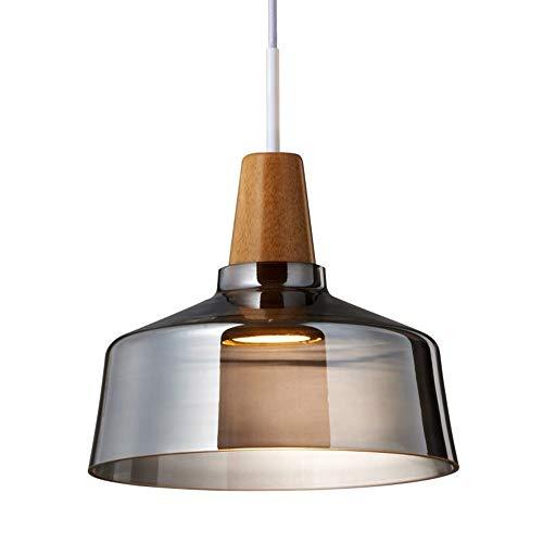 Pendelleuchte Rauchglas Kronleuchter Holz Dekoration Lampe 1 Flamme Hängelampe for Esszimmer Schlafzimmer Wohnzimmer Kücheninsel (Size : B)