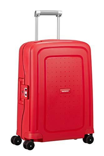 Samsonite S'Cure Spinner S Bagaglio a mano, 55 cm, 34 L, Rosso (Capri Red Stripes)