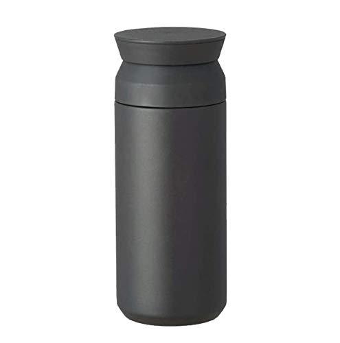 Kinto - Borraccia termica da viaggio o per sportivi, 350 ml/500 ml, Acciaio inossidabile, Nero , 500 ml