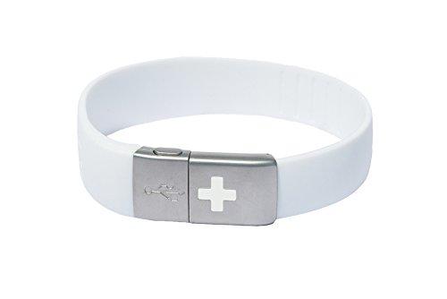 EPIC-id - USB EMERGENCY ID BAND, White