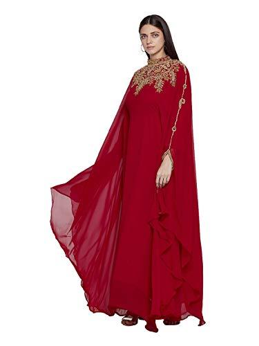 ANIIQ Women Dubai Kaftan Farasha Caftan Long Maxi Dress Free Size Maroon...