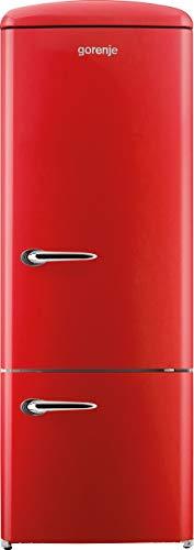 Gorenje RK 60319 ORD Kühl-Gefrier-Kombination / A++ / Höhe 170 cm / Kühlen: 231 L / Gefrieren: 53 L / Rot / DynamicCooling-System / LED Beleuchtung / Flaschengitter / Oldtimer / Retro Collection