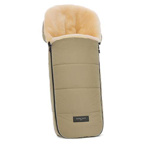 Saco universal Flims para carrito de bebé de WERNER CHRIST – Saco de invierno cubrepiernas con forro medicinal para sillas de paseo, coche o Buggy, color sahara beige