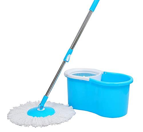 Esquire Elegant Blue 360° Spin Plastic Bucket Mop