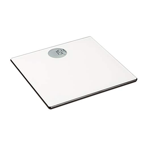 Amazon Basics Body Weight Scale - Auto On/Off Function, Off-White