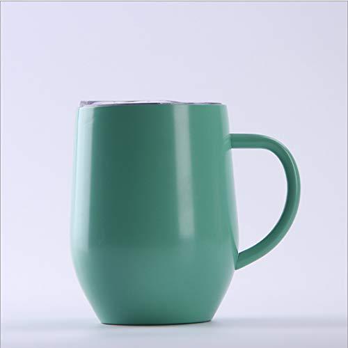 Neue 12Oz Mit Griff Eierbecher Kalt Und Warm U-Förmige Kaffeetasse Doppel Edelstahl-Isolierflasche