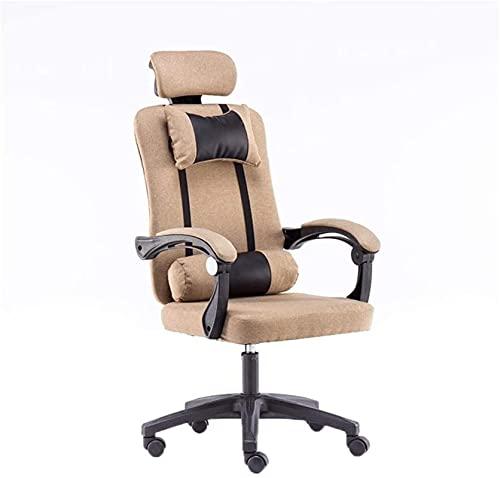 Bar pall Bekväm gäststol - Home Swivel Chair, Comfortable hållbart bord och stol kan lyfta rotera studentstols kontorspersonal fåtölj sovplats sits kontorsmaterial (färg: grå) (Color : Khaki)