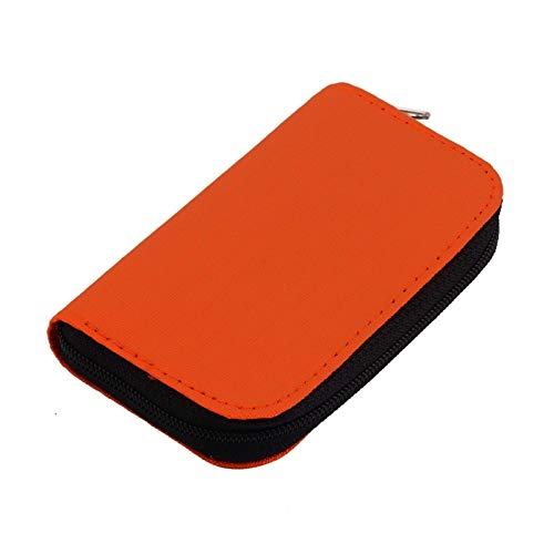 KSPD Tarjeta de Memoria Venta de Naranja para el Almacenamiento de la Tarjeta de Memoria Micro SD Que Lleva la Cartera del Estuche de la Tarjeta de la Tarjeta de la Bolsa Accesorios de Viaje