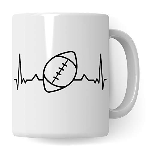 Pagma Druck Football Tasse Geschenk, American Football Spruch Becher Footballspieler Geschenkidee, Kaffeetasse für Footballer