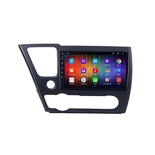 GOHHK 4G + 64G Android 10 Multimedia GPS Coche Radio Estéreo para Honda Civic 9 Versión Americana 2013-2016 Carplay Wireless Carplay Auto Video Play(Size:Ocho núcleos,Color:WiFi:1GB+16GB)