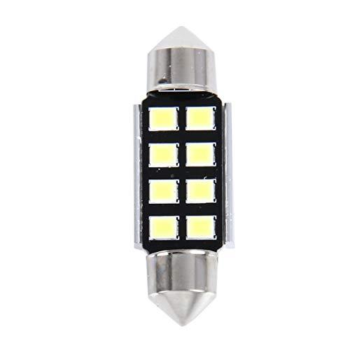 Para auto Cúpula ZAM 2 PCS 3W 200 LM 6000K 36MM 8 LEDs SMD-2835 Bicúspide Port decodificación del coche de la lámpara de lectura de luz LED, CC 12V (luz blanca) (Color : White Light)
