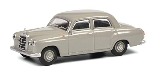 Schuco Mercedes Benz 180 D Ponton W120, Modellauto, Maßstab 1:64, grau, 452022100