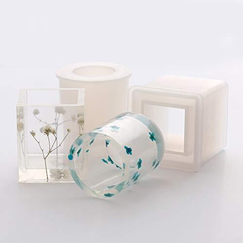 Moules en silicone pour pot de fleurs en céramique, argile à faire soi-même, plantes succulentes, vase pour béton, bougies, gâteaux, gelée, micro-ondes et congélateur blanc