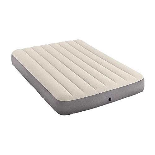 """LKNJLL Camping Air Mattress,Inflatable Mattress Air Bed Queen with Coil Beam Technology, Height 9"""",Carry Bag,White,No Pump Included"""
