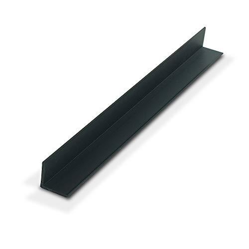 OUTWATER 플라스틱 1935-BK 블랙 3 | 4X3 | 4X5 | 64(.078)두꺼운 스티렌 플라스틱 심지어 다리 각도 성형 72 인치 길이(팩 10 개 60 피트 총)