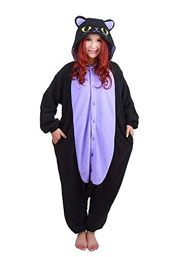 Kigurumi Pijamas Unisexo Adulto Cosplay Traje Disfraces Animal Ropa de Dormir Halloween y Navidad, Gato