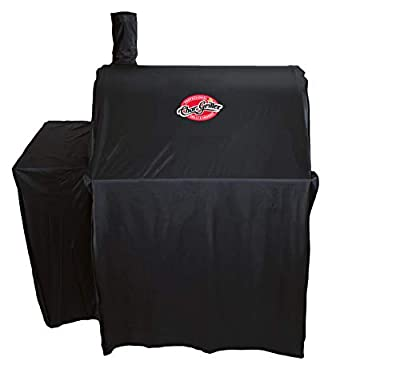 Char-Griller 5555 Grill Cover, Fits Models: 3018, 2121, 2222, 2828, 2727, 2929, 1224, E1224, 1329, 1334, Black