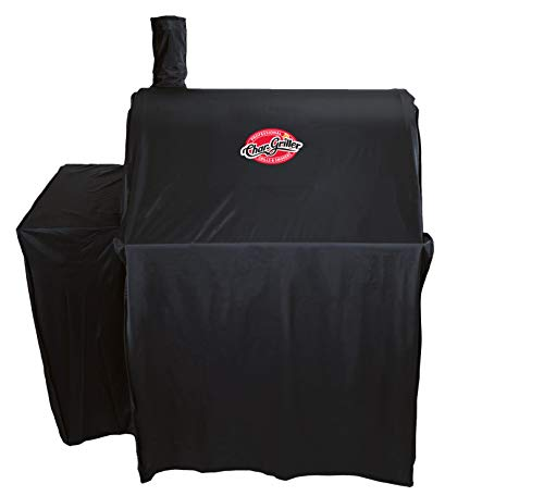 Char-Griller 5555 Grill Cover, Fits Models: 3018, 2121, 2222, 2828, 2727, 2929, 1224, E1224, 1329, 1334, Black