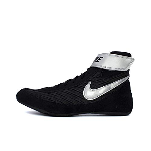 NIKE Men's Speed Sweep VII Wrestling Shoes (Black/White/Black, 10 M US)