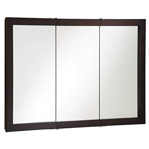 Design House 541367 Ventura Framed Mirrored Medicine Cabinet in Espresso, 48