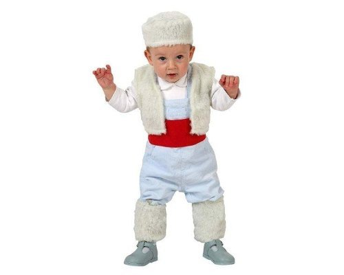 Atosa-32147 Disfraz Pastor Niño Bebé-Talla, color blanco, 12 a 24 meses (32147)